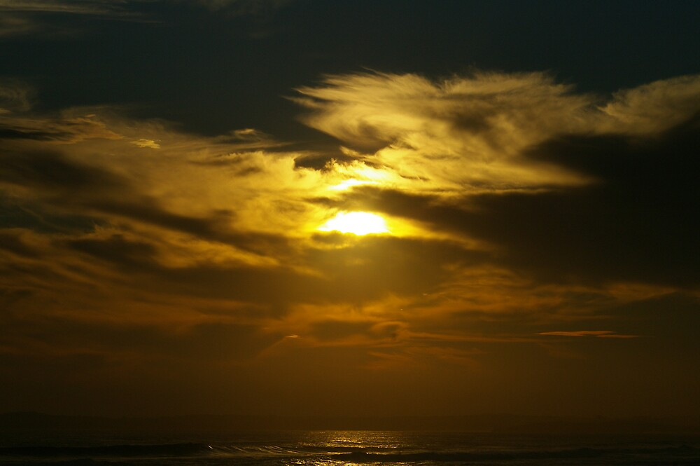 Yellow Sunset at Phillip Island by Bleve