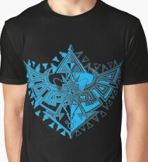 Heart Shield Triforce Cyan 1/3  Graphic T-Shirt