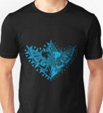 Heart Shield Triforce Cyan 1/3  T-Shirt