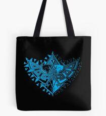 Heart Shield Triforce Cyan 1/3  Tote Bag