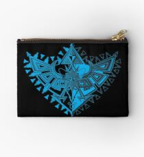 Heart Shield Triforce Cyan 1/3  Studio Pouch