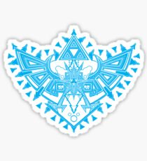 Heart Shield Triforce Cyan 2/3 Sticker
