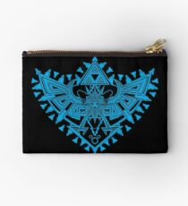 Heart Shield Triforce Cyan 2/3 Studio Pouch