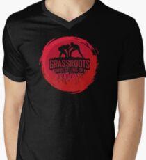 GrassRoots Wrestling Co. Art Logo Mens V-Neck T-Shirt