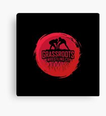 GrassRoots Wrestling Co. Art Logo Canvas Print