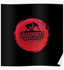 GrassRoots Wrestling Co. Art Logo Poster