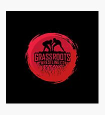 GrassRoots Wrestling Co. Art Logo Photographic Print