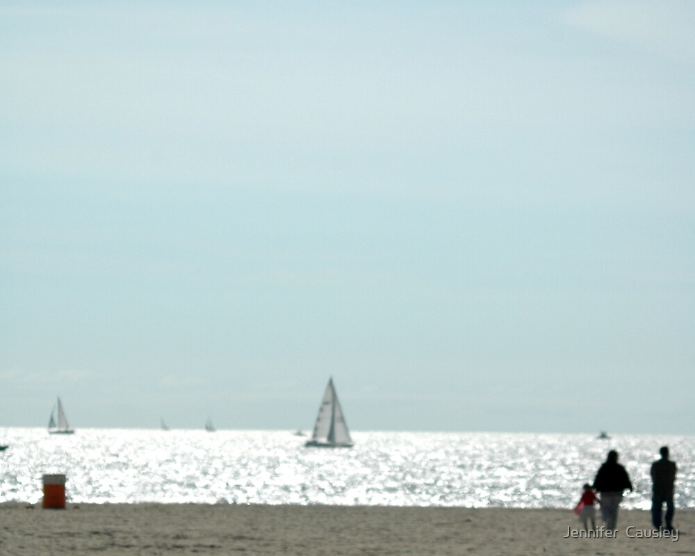 Beach Scene by Jennifer  Causley