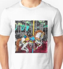 Colorful Carousel Horse at Carnival                                                Unisex T-Shirt