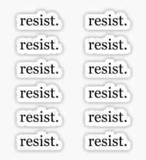 Resist. - 12 Stickers Sticker