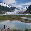 Getting Close to the Mendenhall Glacier, Alaska by Gerda Grice