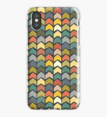baby ikat arrows charcoal iPhone Case