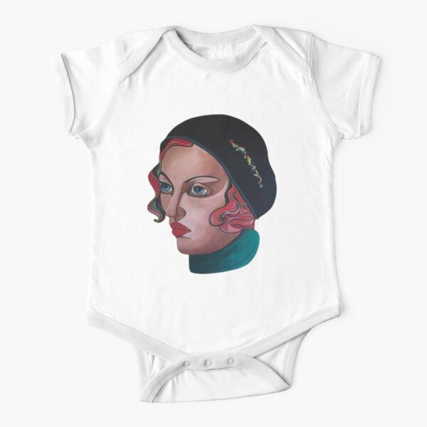 Art Deco Gloria Short Sleeve Baby One-Piece