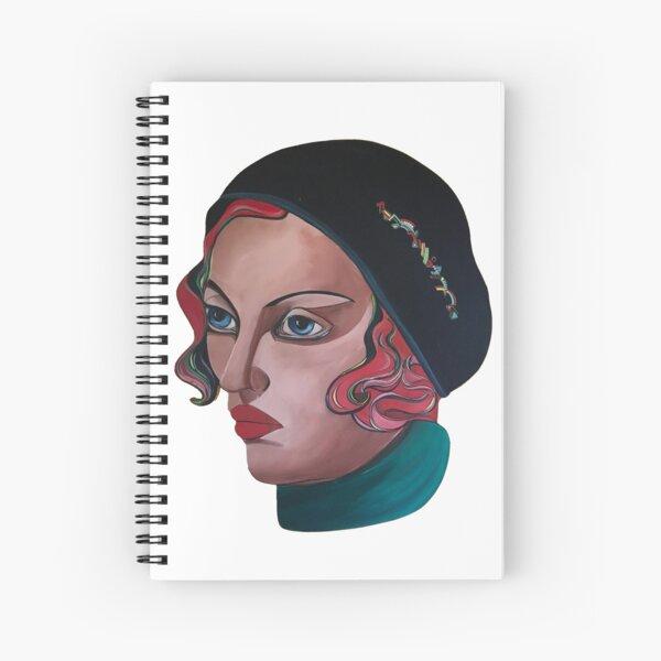 Art Deco Gloria Spiral Notebook