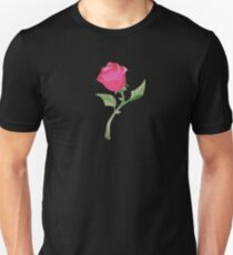 Stain Glass Rose - Beauty & the Beast Unisex T-Shirt