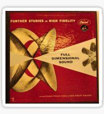Full Dimensional Sound, High Fidelity, Hi Fi lp Sticker