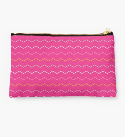 Hot Pink Chevron Studio Pouch