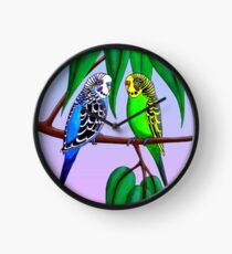 Budgies in the Gumtree Clock