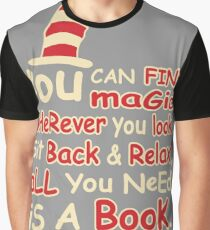 You Can Find Magic in Book Graphic T-Shirt