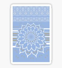 Powder Blue Abstract Flower Sticker