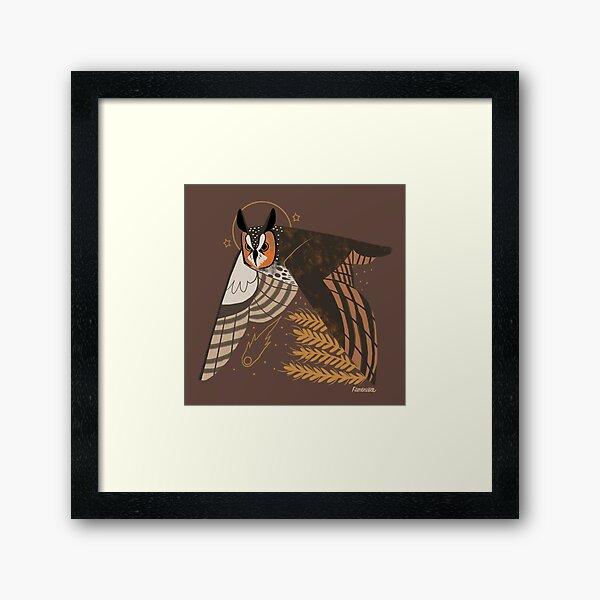 Familiar - Long Eared Owl Framed Art Print
