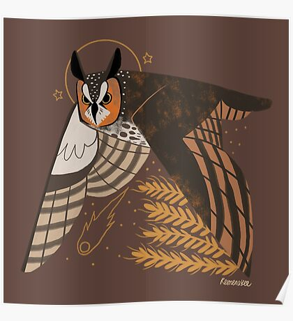 Familiar - Long Eared Owl Poster