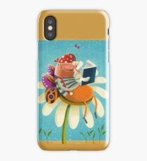 Butterfly bookworm iPhone Case/Skin
