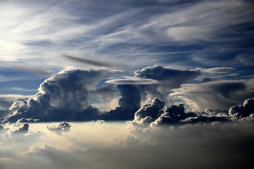 Over London by Mark Lobo