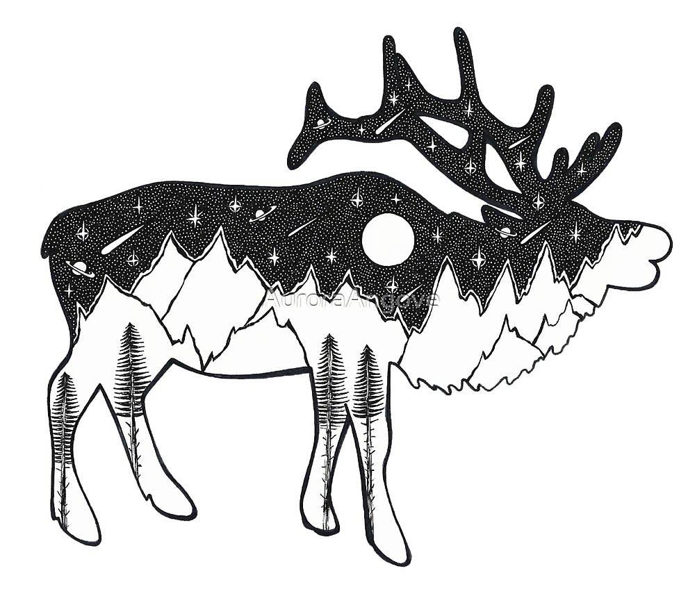 Wandering Elk by AuroraAngove