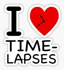 I heart Time-lapses - NY style Sticker