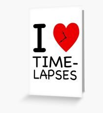 I heart Time-lapses - NY style Greeting Card