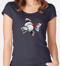 Tancho Telescope Goldfish Women's Fitted Scoop T-Shirt