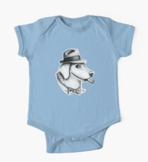 Fedora Dog One Piece - Short Sleeve