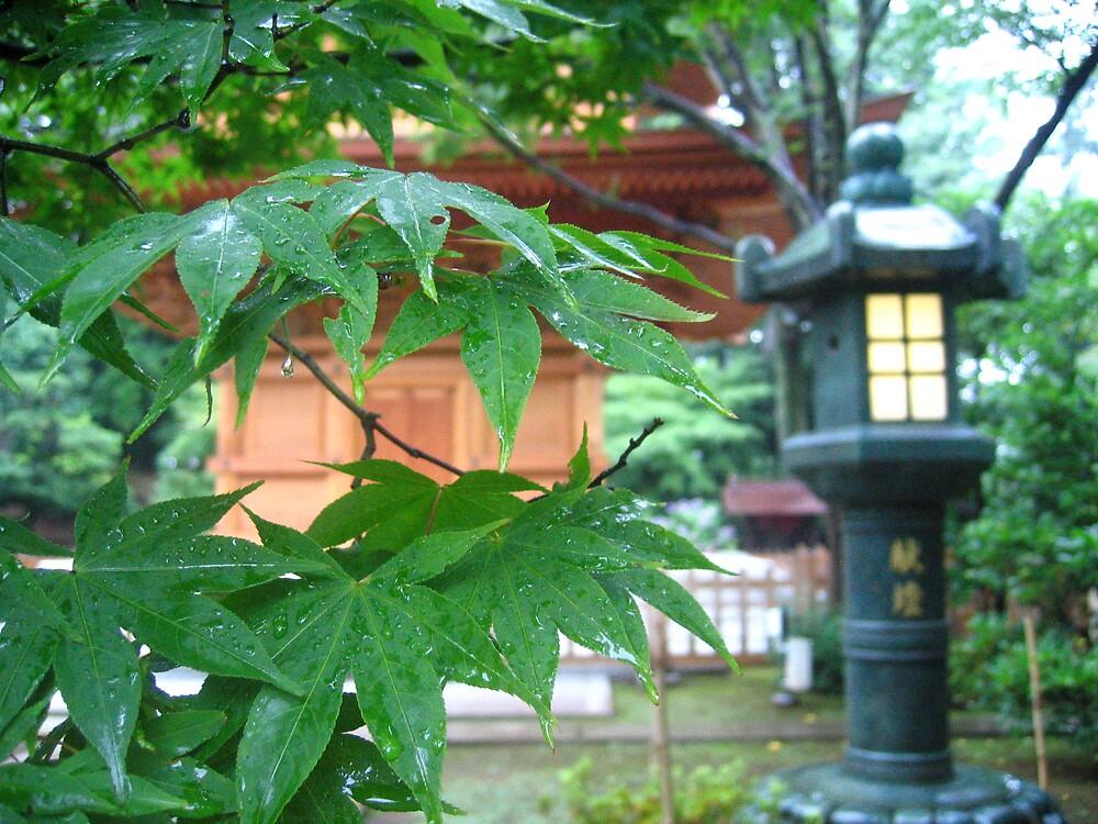 Gotokuji Temple grounds by Sally Li