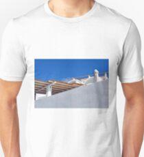 White simple building in Santorini, Greece T-Shirt