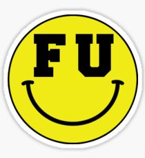 FU Smiley Face Sticker