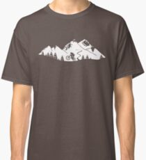Wheelie in front of mountains Classic T-Shirt