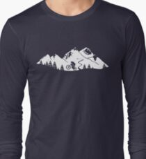 Wheelie in front of mountains T-Shirt