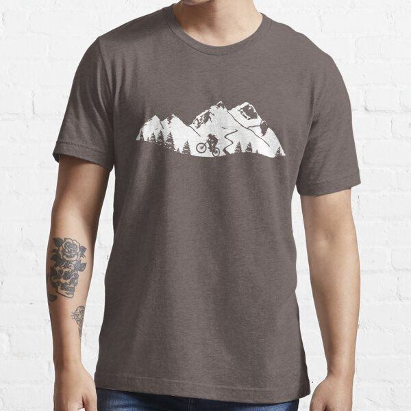 Wheelie in front of mountains Essential T-Shirt