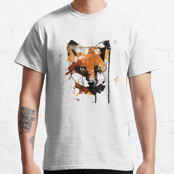 Geometric Watercolor Fox Classic T-Shirt