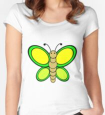 Pretty Butterfly Women's Fitted Scoop T-Shirt