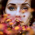 behind flowers by LauraZalenga