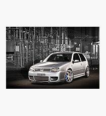Jose's Volkswagen MkIV R32 Golf Photographic Print