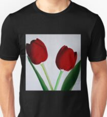 TWO RED TULIPS Unisex T-Shirt
