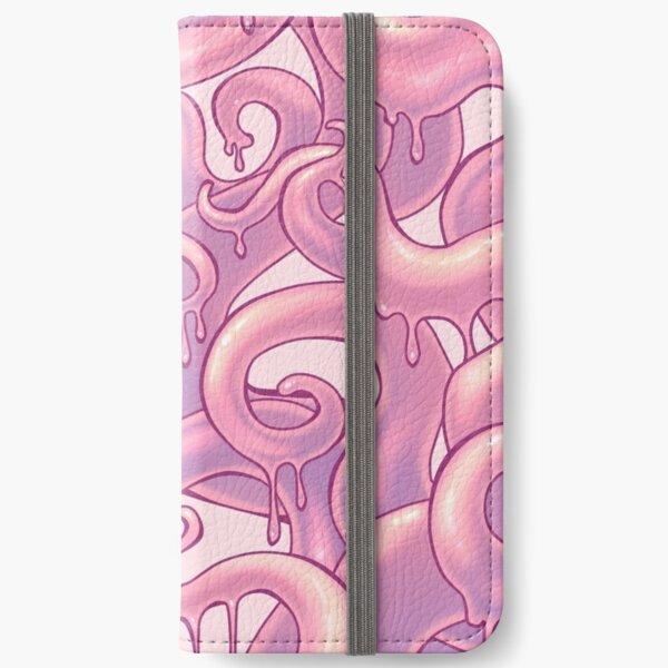 Gooey Tentacles - pink iPhone Wallet
