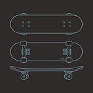 Skateboard (blue lines) by 73553