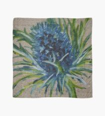 Blue Thistle Oil Painting by Angela Brown Art Scarf
