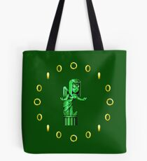 Sonic CD Angel Statue Tote Bag