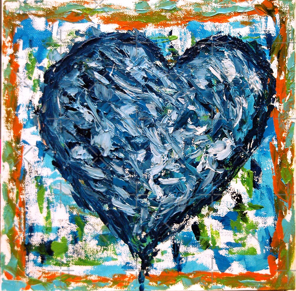 blue heart by monica palermo
