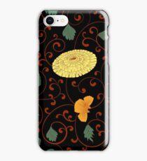 Chinese chrysanthemum black iPhone Case/Skin
